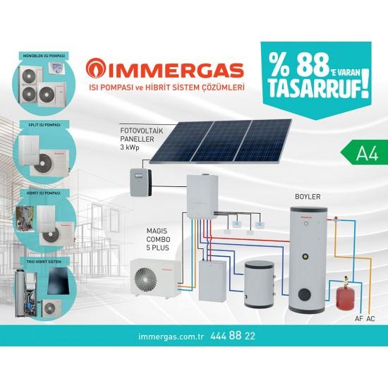 Immergas Audax 8KW Monoblok Monofaze Isı Pompası